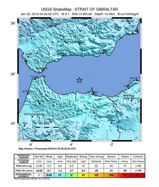 Trzęsienie ziemi miało siłę 6,1 stopni w skali Richtera