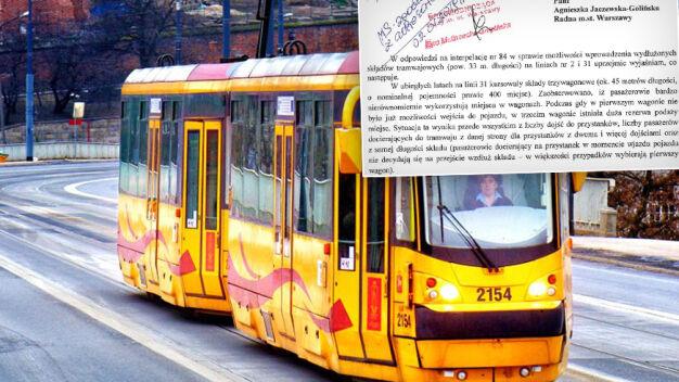 Nie będzie tramwajów trzywagonowych. Bo pasażerowie źle korzystają