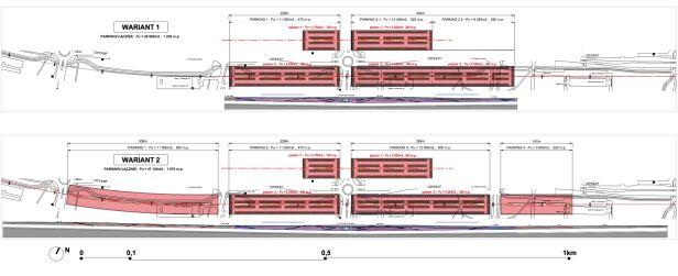 Projekty parkingów nad tunelem