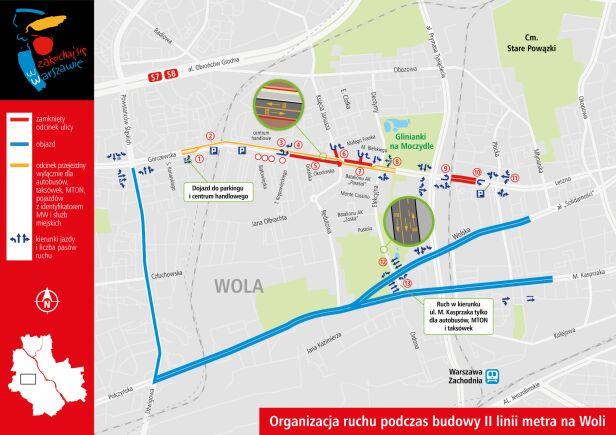 Metro na Woli, organizacja ruchu UM Warszawa
