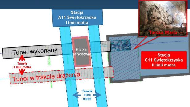 Tak Anna przejdzie pod pierwszą linią metra metro.waw.pl
