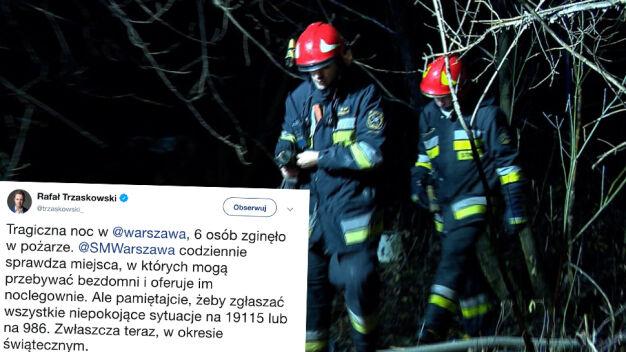 Po pożarze na Żeraniu. Apel prezydenta stolicy