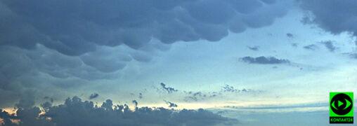 Mammatusy na niebie, sypnęło gradem. Wasze relacje z burzowego wtorku