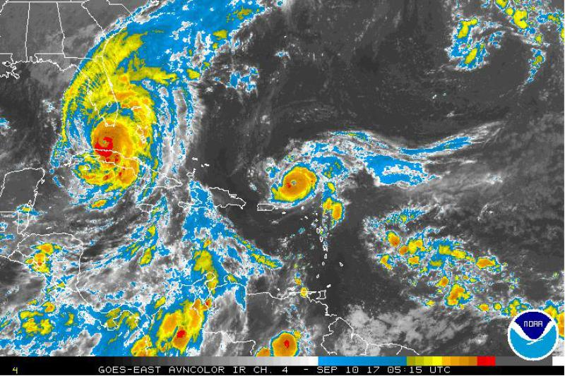 Zdjęcie satelitarne huraganu Irma