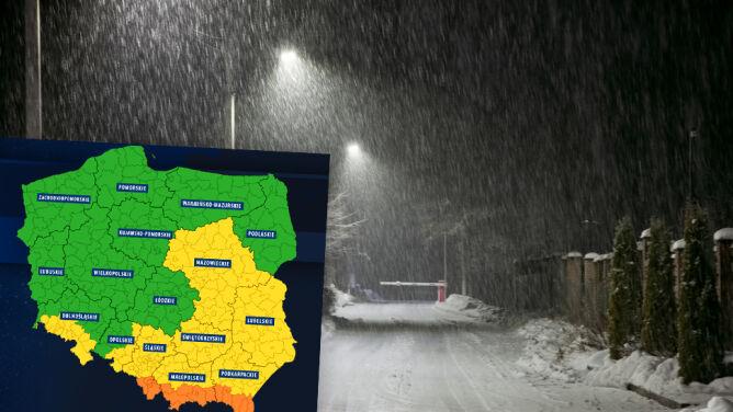 Uwaga na śnieg. Ostrzega przed nim Rządowe Centrum Bezpieczeństwa