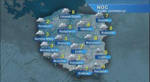 Prognoza pogody na noc 12.11/13.11