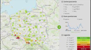 Jakość powietrza w Polsce w godz. 5-6 (GIOŚ)