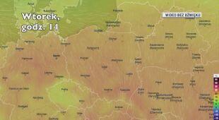 Temperatura w ciągu kolejnych dni (Ventusky.com)
